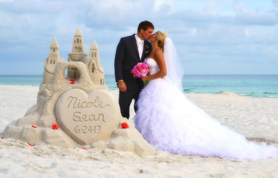 Sand Carving Art Wedding Ideas