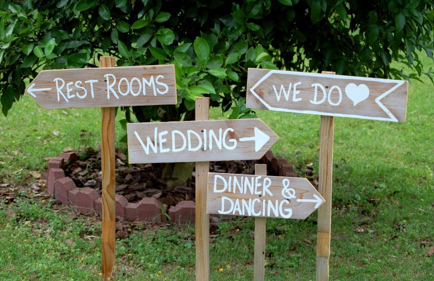 Signboard of Wedding Ideas